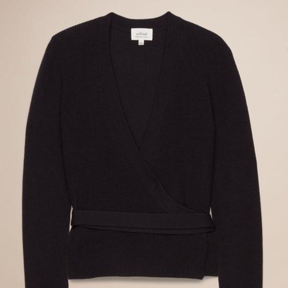 Aritzia Wilfred Manset Wrap Sweater